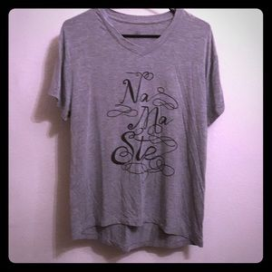 Gaiam NAMASTE Gray T Shirt